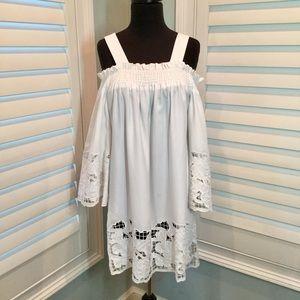 Kendall & Kylie Embroidered Cold Shoulder Dress, M